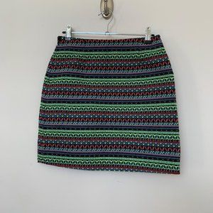 Shrinking Violet Sz Small Womens Colorful Skirt